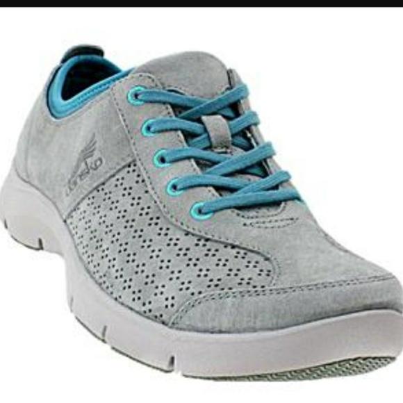 31bdba5441a Dansko Elise Teal & Gray Suede Comfort Sneakers